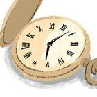 フリーイラスト(無料素材)懐中時計