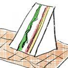 フリーイラスト(無料素材)サンドイッチ