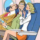 飛行機・座席に座る人々02