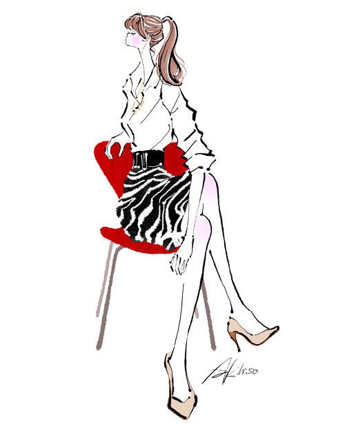 オフィスの椅子に座り腰痛解消の運動をする女性